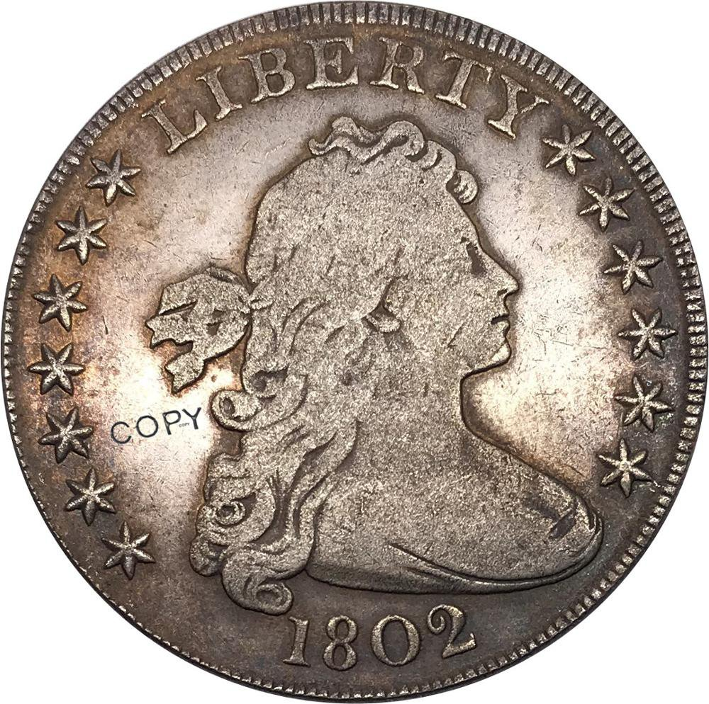 United States Of America Coin 1802 Liberty Draped Bust One Dollar Heraldic Eagle Copy Coins
