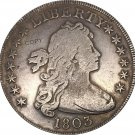 United States Of America Coin 1803 Liberty Draped Bust One Dollar Heraldic Eagle Copy Coins
