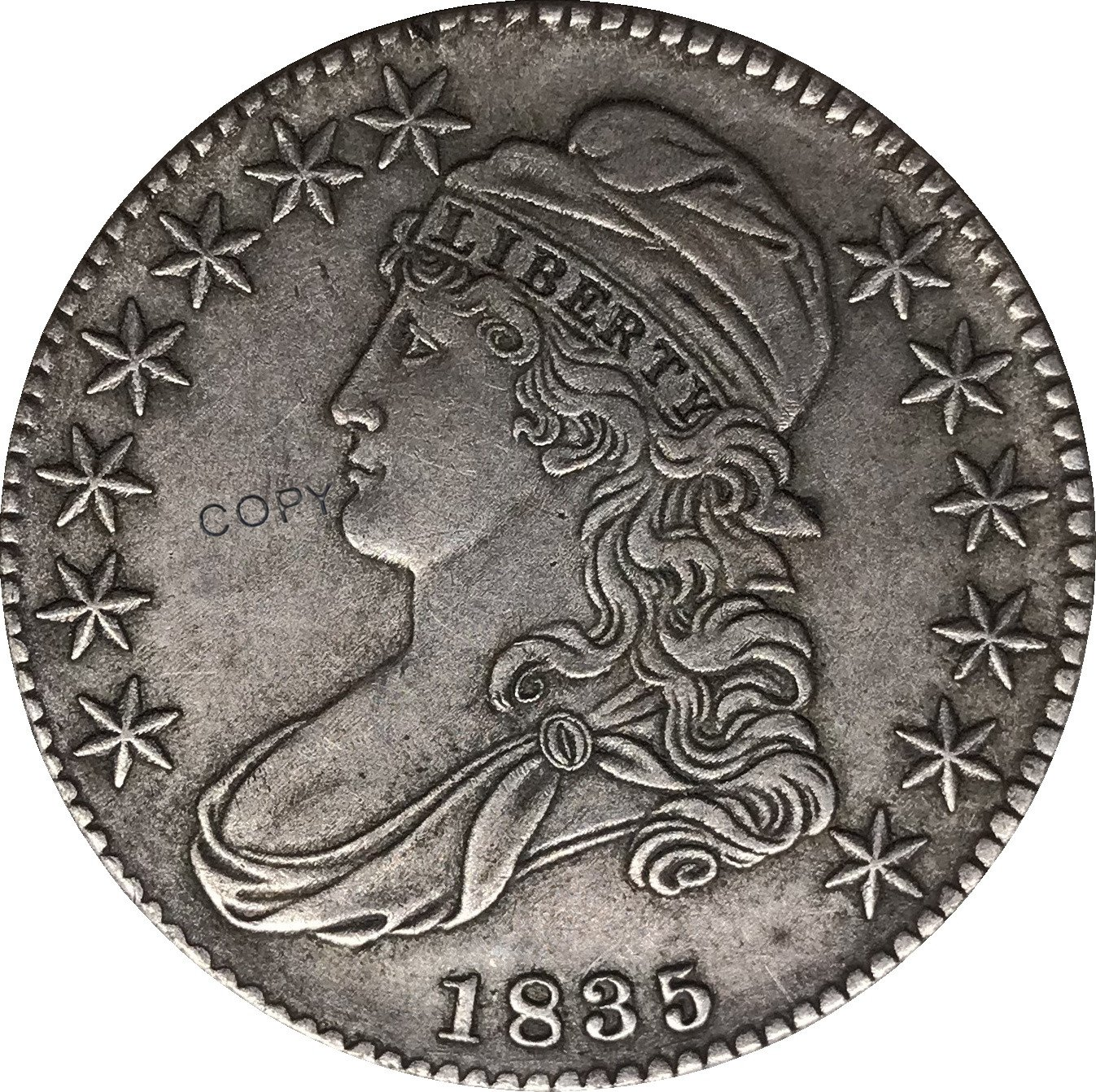 1835 United States 50 Cents ½ Dollar Liberty Eagle Capped Bust Half Dollar Copy Coins