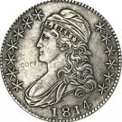1814 United States 50 Cents ½ Dollar Liberty Eagle Capped Bust Half Dollar Copy Coins