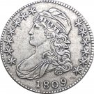 1809 United States 50 Cents ½ Dollar Liberty Eagle Capped Bust Half Dollar Copy Coins