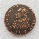 US 1792 Washington President 1C Cent Copy Coin