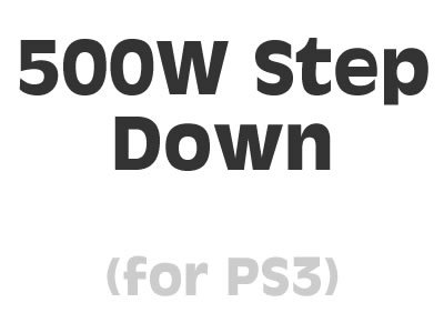 Sony Playstation 3 500 Watt Step-Down