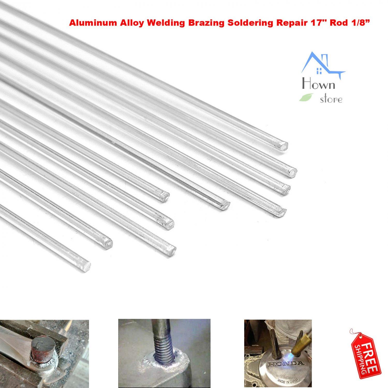 "Aluminum Alloy Welding Brazing Soldering Repair 17"" Rod Cracks Polish Boat 10pcs Hown store"