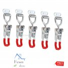 Cabinet Lever Handle Toggle Catch Latch Lock Clamp Hasp 5pcs Adjustable