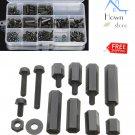M3 Screw Black Hex Screw Nut Plastic PCB Standoff Assortment Kit M3NH2 POM DIY
