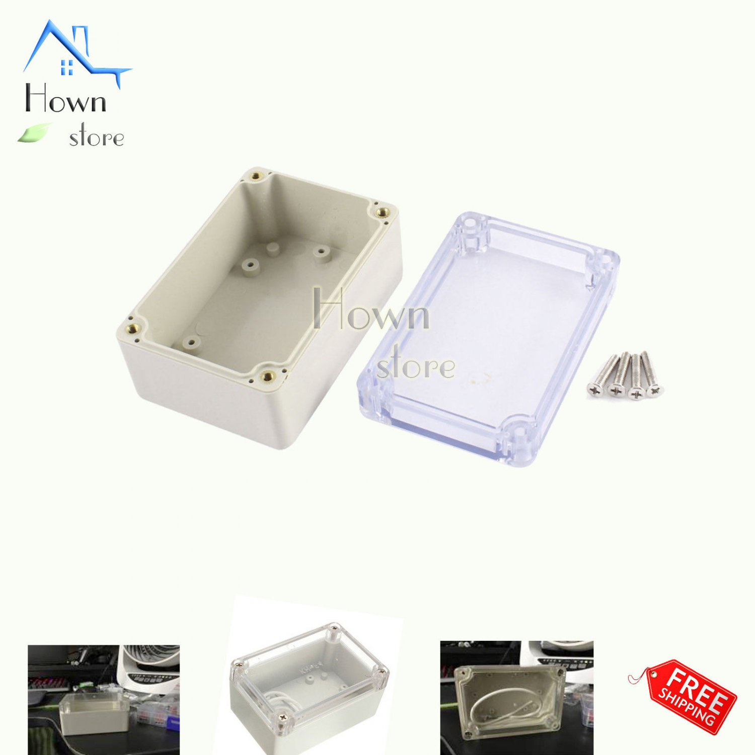 Electrical Box Case Waterproof Dustproof Enclosure DIY Electronic Wire Project