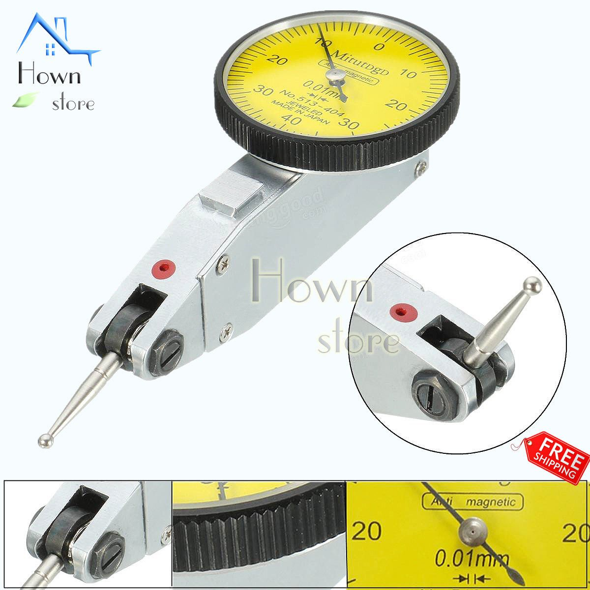 Test Indicator Gauge Precision Metric Mechanical Measurement Clamps and Box