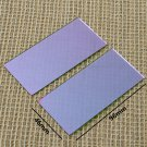 Welding LensBlue cobalt glass Fire resistance 2PCS 96mmX46mmX1mm
