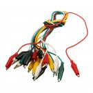 Test Leads Alligator Clip DIY Alligator Double-end Crocodile Jumper Wire 10pcs