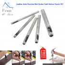 Leather Hole Puncher Belt Cutter Craft Hollow Punch DIY Chisel Tool 3-8 mm Set hown store