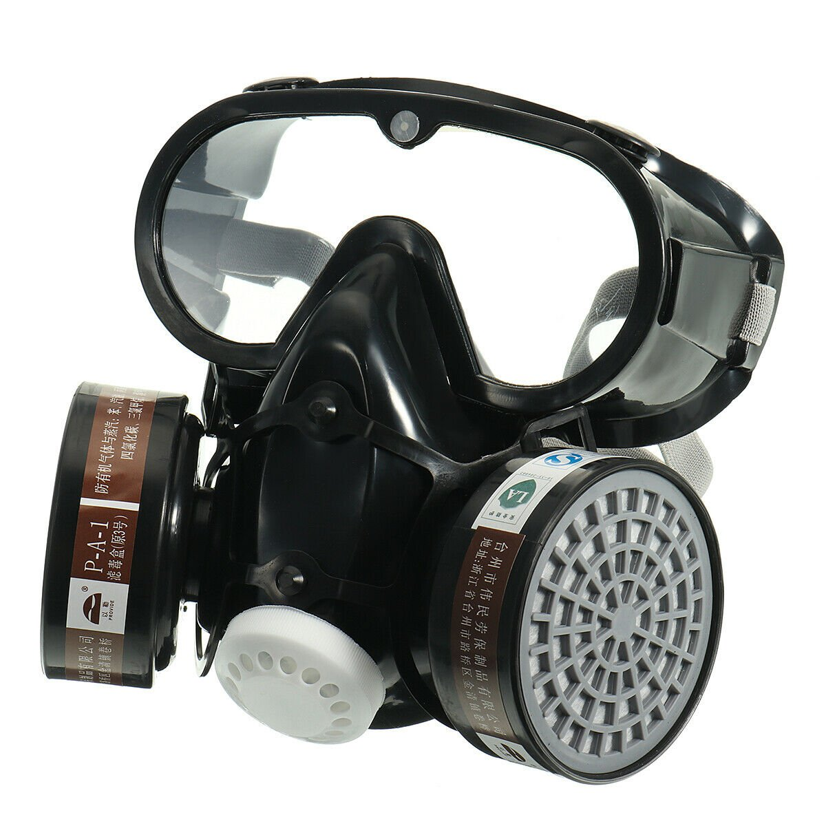 Respirator Gas Mask Safety Anti-Dust Filter Eye Goggle Set