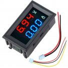 Digital Voltmeter Ammeter DC 100V 10A Current Meter Tester Blue+Red LED Display