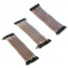 Breadboard Jumper Cable Wire Conduit Arduino M To F, F To F, M To M 120pcs 20cm