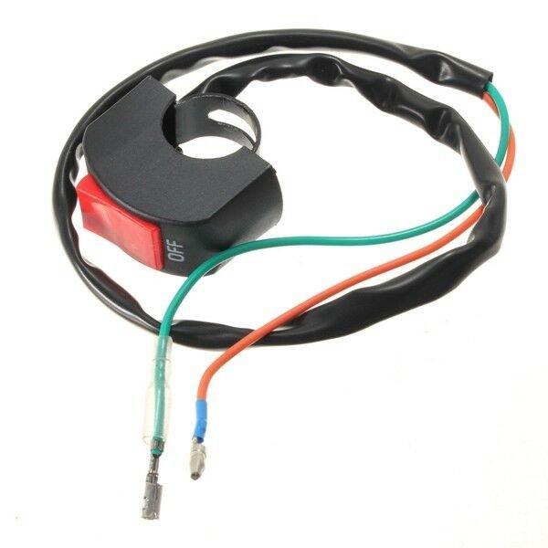 12v Motorcycle Headlight Switch Waterproof On/Off Fog Spot Light 25mm Handlebar