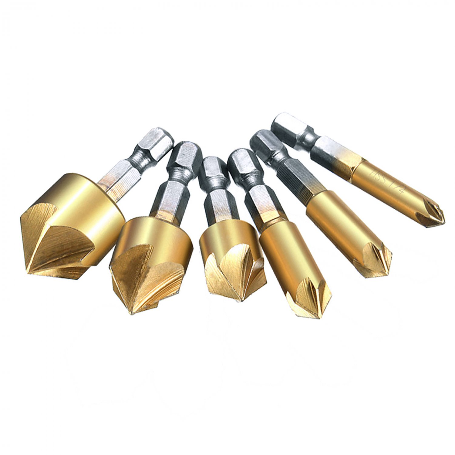 Wood Working Countersink Drill Bit Set Precision Ground 6pc Kit Hown store