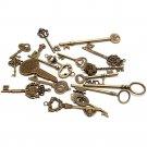 Vintage Mix Style Keys Antique Skeleton Old Lock Cabinet Gate Set DIY Lot of 18