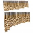 "Drill Bits HSS Titanium Coated 1/16"" 25/64"" Metal Wood Plastic DIY Tool Set 100p"