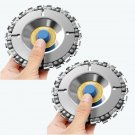 Grinder Carving Disc Chain 4 Inch 22 Tooth Fine Cut 5/8 Inch Arbor 100/115 Angle 2PCS