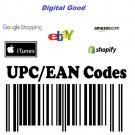 1000 UPC EAN-13 GTIN Number Bar Codes International market eBay US UK AU 2