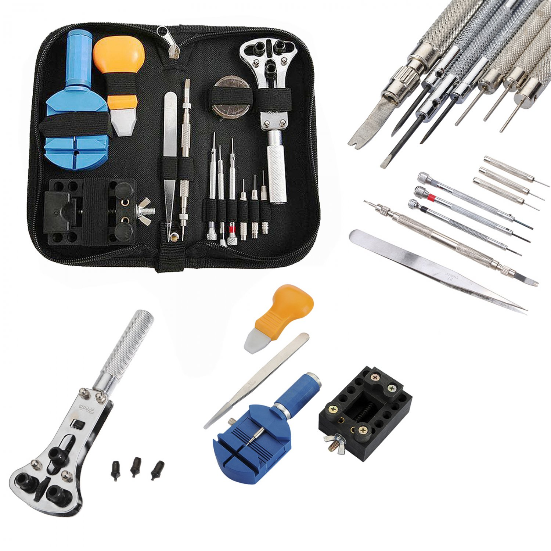 Watch Repair Tool Kit Zip Case Battery Bracelet Repair Opener Remover Screwdrive