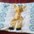 "Handcrafted Crocheted ""Giraffe"" Crib Runner Afghan"