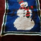 Handcrafted Crocheted Snowman Wall Decoration or Potholder