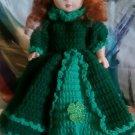 "Handcrafted Crocheted 13"" ""Shamrock Irish Lass"" Doll"