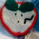 """Handcrafted Crocheted """"Apple Slice"""" Potholder/Wall Decoration"""