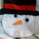 Handcrafted Crocheted Snowman Face Decoration