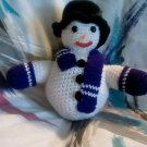 """Handcrafted Crocheted """"Roly-Poly"""" Stuffed Snowman"""