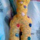 "Handcrafted Crocheted ""Gerry the Giraffe"" Stuffed Animal"