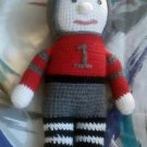 """Handcrafted Crocheted 16"""" """"Ohio State"""" Football Player Stuffed Doll"""