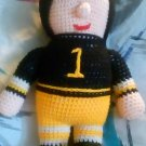 """Handcrafted Crocheted 17"""" """"Pittsburgh Steelers"""" Football Player Stuffed Doll"""
