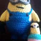 """Handcrafted Crocheted MINION """"Dave"""" and Cupcake Stuffed Doll/Toy"""