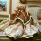 "Handcrafted Crocheted 15"" Native American Princess Doll"