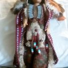 "Handcrafted Crocheted 16"" Native American Chief Doll"