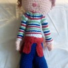 "Handcrafted Crocheted 18"" Stuffed ""Strawberry Shortcake"" Doll"