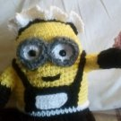 "Handcrafted Crocheted ""Phil the Minion"" French Maid Stuffed toy/Doll"