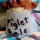 """Handcrafted Crocheted """"Piglets for sale"""" in a Sack Decoration"""