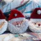 Handcrafted Crocheted Santa Face Wall Decoration