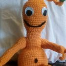 """Handcrafted Crocheted """"Quark the Alien"""" Stuffed Toy/Doll"""