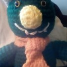 """Handcrafted Crocheted """"Horace the Horned Monster"""" Stuffed Toy/Doll"""