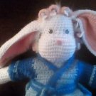 """Handcrafted Crocheted """"Bonnie the Bunny"""" Stuffed Decoration/Toy"""