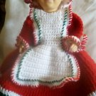 """Handcrafted Crocheted 14"""" """"Mrs. Claus"""" Doll"""
