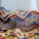 "Handcrafted Crocheted ""Throw of Many Colors"" Lap Throw"