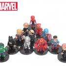 4-5cm 12pcs/set Marvel Toys The Avengers Figure Set Q Version Iron Man