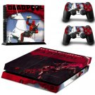 Deadpool M.Wilson Decal Skin Stickers For Sony PS4 Playstation + 2 Controllers