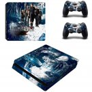 Final Fantasy Decal Skin For PS4 Slim Console Cover For PS4 Slim Skin Stickers+ Controll