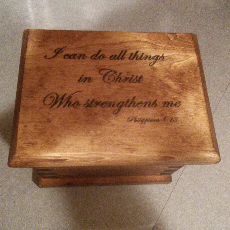 Unique Personalized Hand-Made Wooden Prayer Box// keepsake box